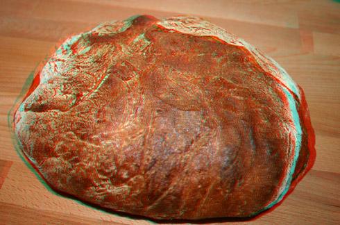 Das Brot in 3D (mit 3D-Brille ansehen).