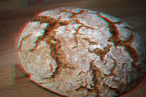 Rustikales Vollkornmischbrot in 3D (mit 3D-Brille ansehen)^