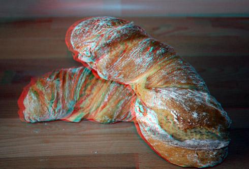 Wie immer: das Brot in 3 Dimensionen (mit 3D-Brille ansehen)