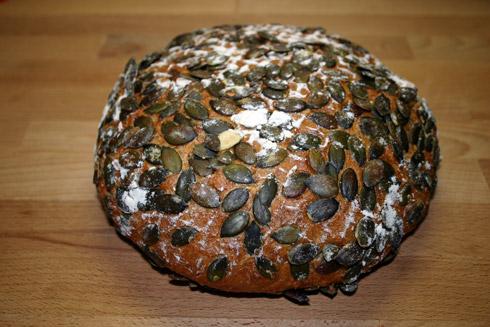 Kürbiskern-Quark-Brot nach Bäcker Süpke