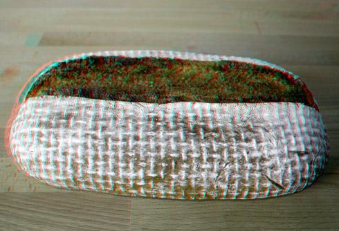 Das Brot in 3D.