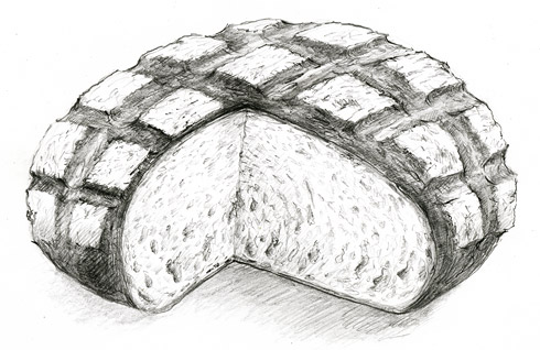 Das Burebrot (Zeichnung: Anita Voigt)