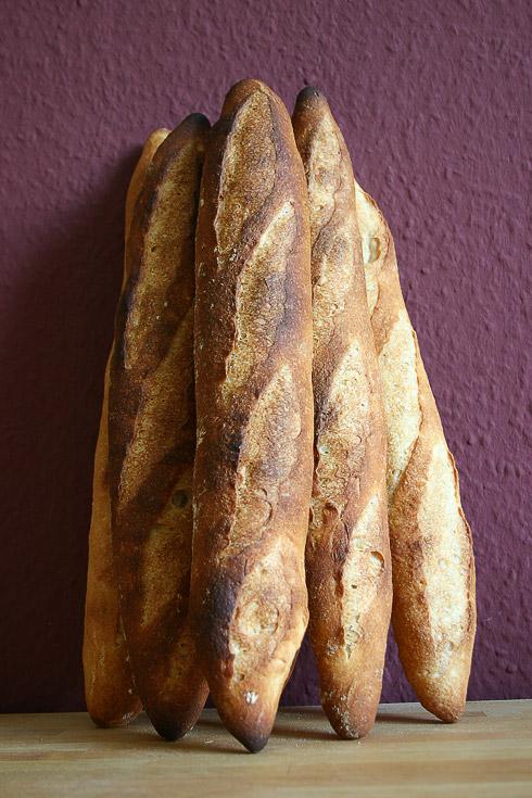 Baguette au Levain mit Poolish (6. Versuch)