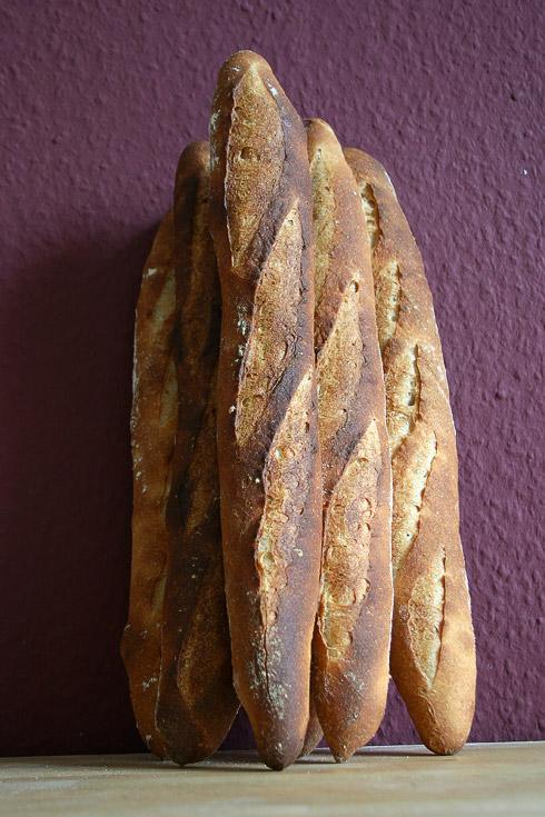 Baguette au Levain mit Poolish (7. Versuch)