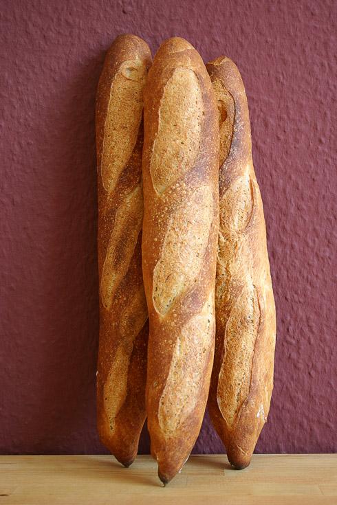 Baguette au Levain mit Poolish (14. Versuch)
