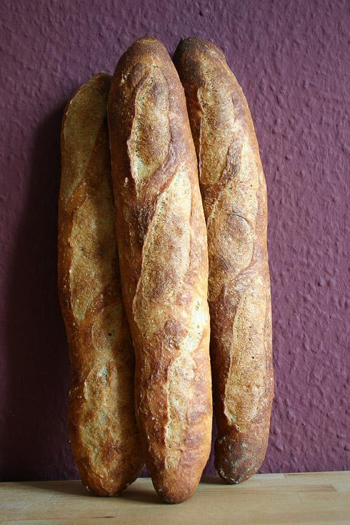 Baguette au Levain mit Poolish (15. Versuch)