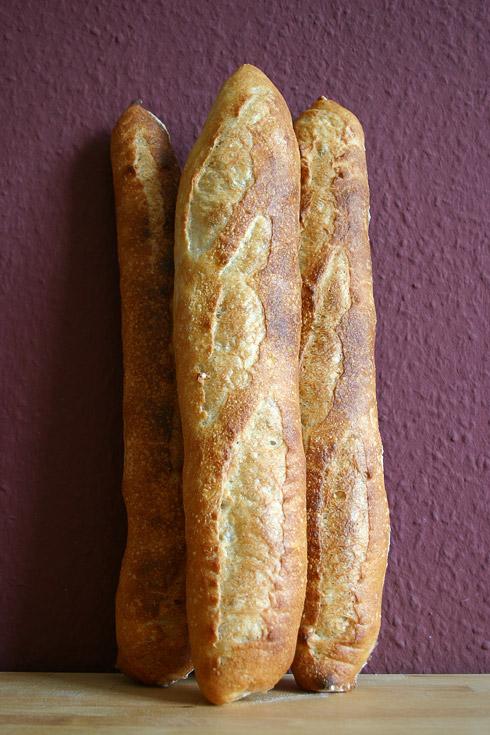 Verunglückt: Baguette au Levain mit Poolish