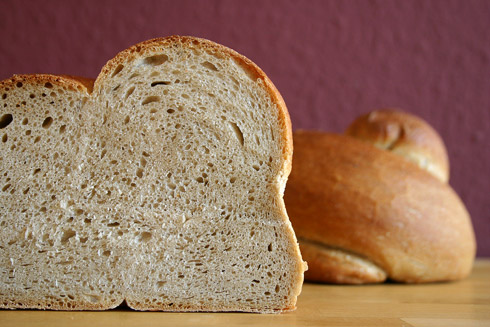 Kleinporige Krume, dezent herzhafter Geschmack: St. Galler Landbrot