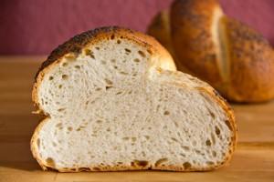 Mittelporige Krume: das schwedische Brot Barkis
