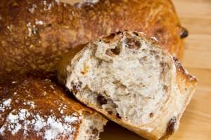 Lockere, leicht süßliche Krume im Golden Raisin Bread
