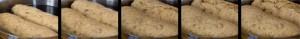 Die Teiglinge im Wasserbad mit starkem Trieb: Böhmische Semmelknödel