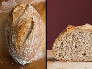 Fast perfekte Einschnitte und eine lockere Krume: Weizenbrot mit Sauerteig und Vollkornanteil nach Jeffrey Hamelman