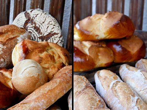 Backtag bei Petra: Baguettes, Knauzenwecken, Osterpinzen, Gunnison River Bread, Schrotbrot