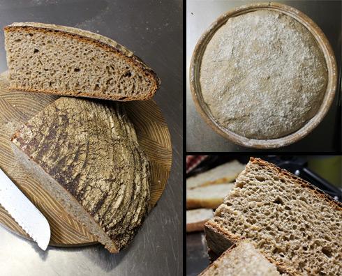 Das Miche - nichts für Brotbackanfänger. Wer sich aber einmal mit Erfolg ans Miche-Backen gewagt hat, wird vom Geschmack begeistert sein.
