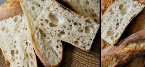 Gerds und meine Baguettes sind von Krume und Kruste kaum zu unterscheiden. Geschmacklich sind die Boubsa-Baguettes noch etwas vielfältiger.