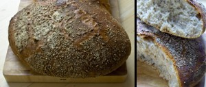 Norwegian Farm Bread mit lockerer Krume.