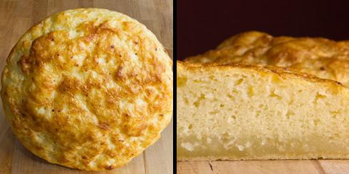 Nach dem 1. Versuch: frei geschoben und mit nur 1 Stunde Backzeit: ein dicker nasser Streifen am Brotboden