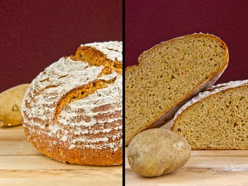 Knusprige Kartoffelkruste und kleinporige, würzige Krume: Möhren-Kartoffel-Brot