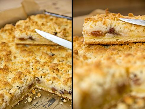 Frisch, saftig, lecker, knusprig: Neidarfer Äppelkung (Neudorfer Apfelkuchen).