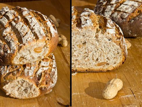 Kleinporige, lockere Krume mit aromatischen Erdnüssen und rustikaler Kruste mit Röstaromen: Freiberger Erdnussbrot