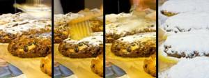 Der Wechsel aus Butter und Puderzucker trägt zur Frischhaltung des Stollens bei. So bleibt er saftig und aromatisch.