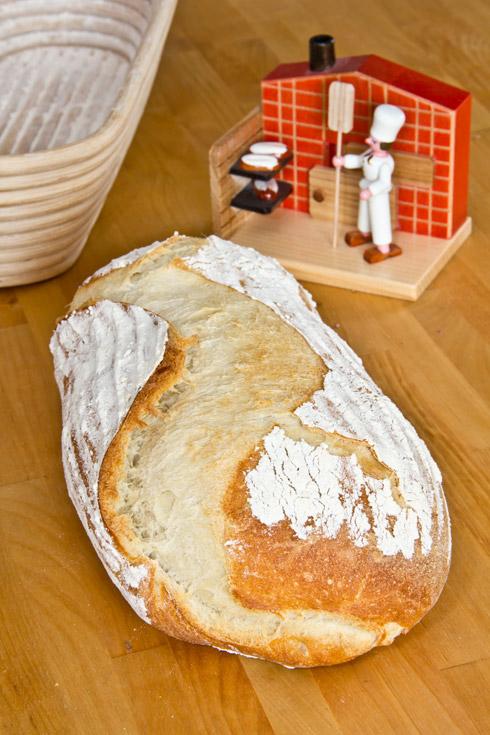 Weißbrot mit Camembert-Füllung