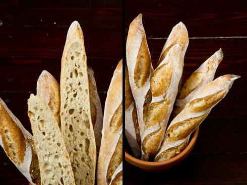Großporig und aromatisch: Baguettes nach Ciril Hitz (verändertes Rezept)
