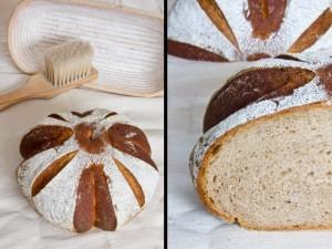Kleinporige, elastische und aromatische Krume: Weizenmischbrot nach Björn Hollensteiner
