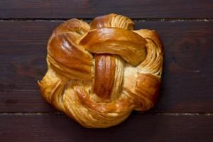 Das Croissant-Brot ohne Kastenform gebacken...