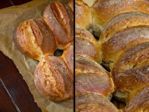 Dunkelbraune, knusprige Kruste: Pivný chlieb (Slowenisches Bierbrot)
