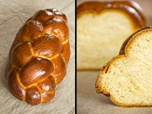 Locker, langfaserig, fluffig und süßlich-mild im Geschmack: Challah (Jüdischer Hefezopf)