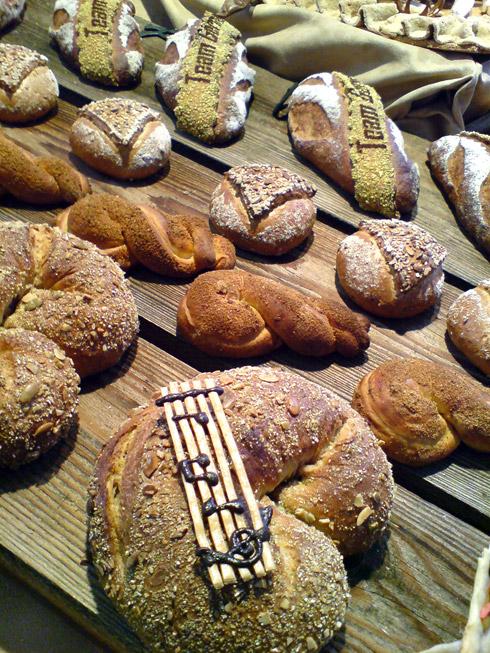 Ein Blick auf den Tisch des deutschen Teams beim Internationalen Bäckerwettbewerb zum Thema Musik.