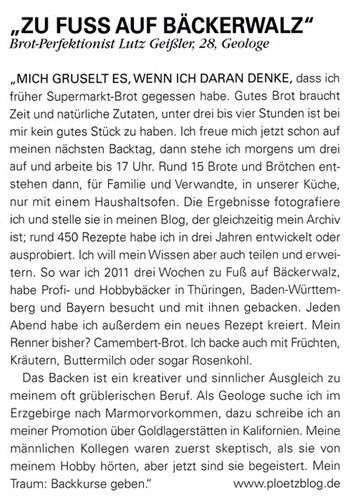 Der Plötzblog im Feinschmecker-Magazin (November-Ausgabe, Quelle: DER FEINSCHMECKER)