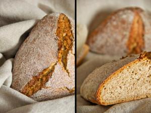 Roggen-Dinkel-Brot (2. Versuch mit kürzerer Stückgare)