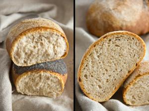 Locker, aromatisch und ein klarer Brotfavorit: Dinkel-Weizen-Brot