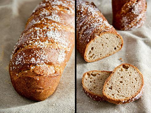 Oder als kleines langes Brot geformt...