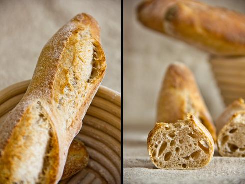 Grobporig und etwas herber im Geschmack als Weizenbaguettes: Dinkelbaguettes