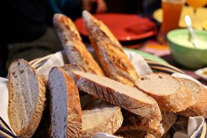 Frisches Brot zum Abendessen