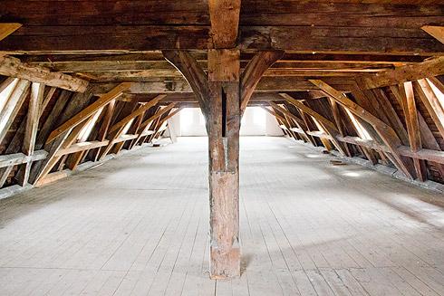 Der Dachstuhl des Museums der Brotkultur in Ulm