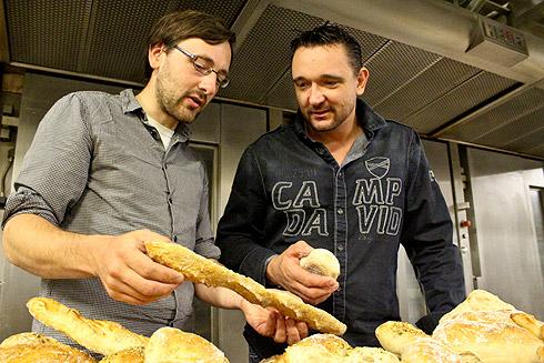 Brotfreunde beim Fachsimpeln...