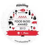 Plötzblog holt den Sieg unter den Backblogs: 1. Platz beim AMA Foodblog Award