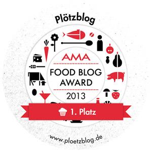 1. Platz beim AMA Foodblog Award