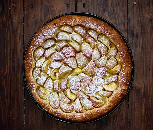 Apfelkuchen mit Kartoffelteig