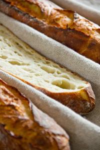 Grobporig, kartoffelig: Kartoffelbaguettes