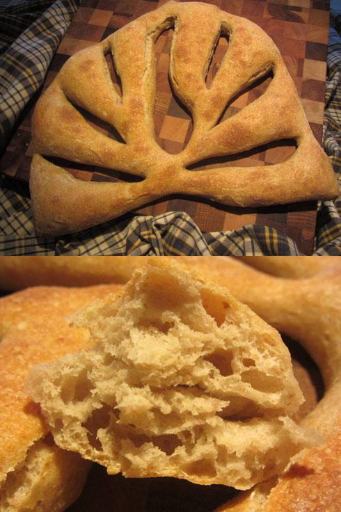 """""""Fougasse"""" von Boulangeriechen. Mit Vorteig und Lievito Madre."""