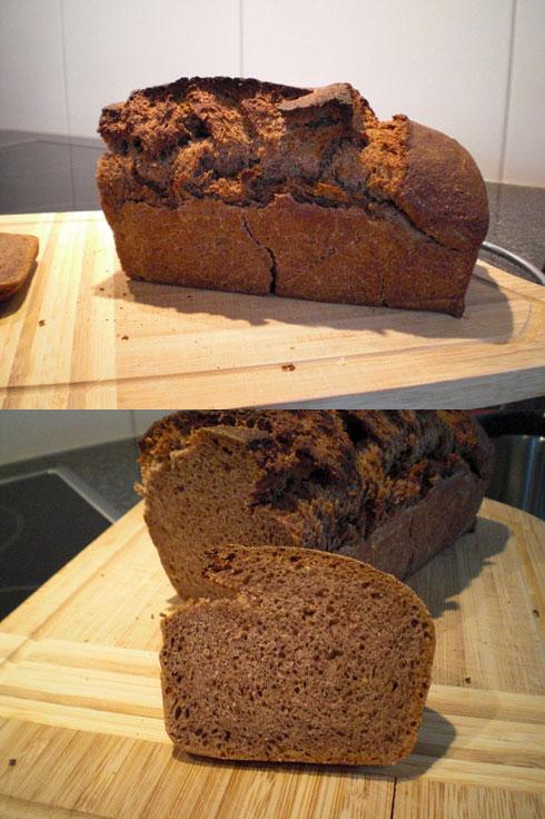 Urkorn-Erdbeer-Brot von Rebecca Ludin. Mit Kamut, Purpurweizen und Rotkornweizen.