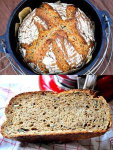 Kamut-PurPur-Schwarzbier-Brot von Ina. Mit Kamut und Purpurweizen.