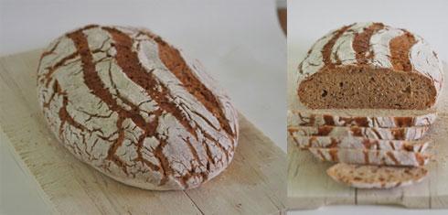Roggen-Einkorn-Mischbrot von Mangoseele.