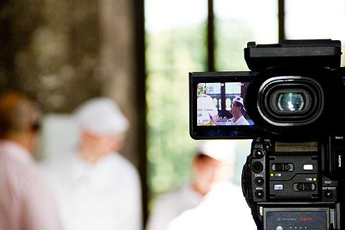 Die Kameras laufen, viele Szenen werden mehrfach wiederholt