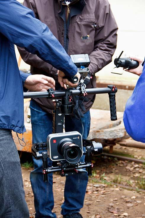 Die wichtigste Kamera des Tages. Mit ihr kann der Kameramann wackelfrei dynamische Szenen drehen.